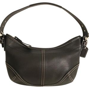 Authentic Coach Black Leather Hobo Small Shoulder Bag